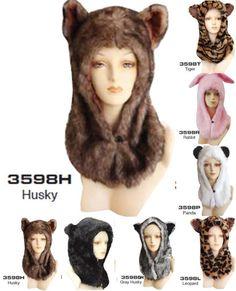 New Plush Soft Faux Fur Animal Hood Hoodie Hat Cap w/ Ears. $9.99