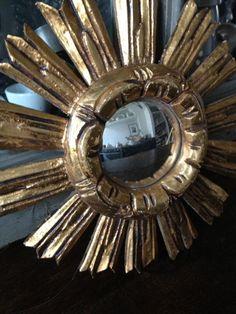 Vintage Starburst Mirror  FleaingFrance Brocante Society