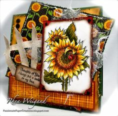 copic sunflower | Colored image with Copic Markers add old Graphic 45 paper, a canvas ...