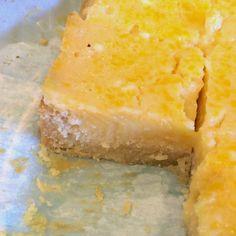 Just Jessie B: Perfect Paleo Lemon Bars Paleo Dessert, Healthy Desserts, Just Desserts, Dessert Recipes, Dessert Ideas, Delicious Desserts, Paleo Lemon Bars, Paleo Bars, Primal Recipes