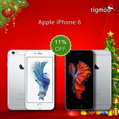 SAVE 11% on the purchase of #iPhone6 from #tigmoo #thischristmas  Available in GOLD, GREY & SILVER colours  Check out all here: https://www.tigmoo.com/smartphones/apple.html #iPhoneOffers #XMASOffers #SpecialOffers