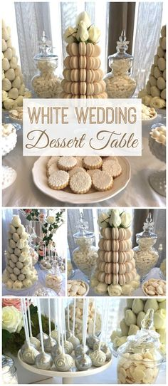 You won't believe how gorgeous this wedding is!  Amazing desserts! See more party planning ideas at CatchMyParty.com!