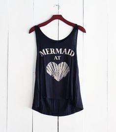 Mermaid at Heart Tank, Black