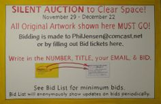 Phil is having a special auction. His work is really really great.