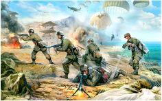 German Paratrooper Assault on Crete