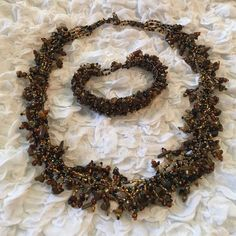 Tigers eye and brown beaded necklace and bracelet Guatemalan jewelry set, shades of brown. Beautiful set, great for dressing up a basic tee or for an evening out! Bought off eBay, but I never wear it anymore. Excellent like new condition. Handmade Jewelry