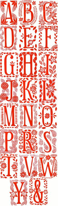 A - Single Hand Block Printed Monogram Card and Envelope