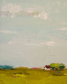 Gift To Be SImple VII- Oil Painting- 8x10, Farm, Landscape Painting, Farmhouse via Etsy