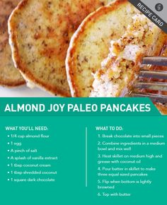 Recipe: Almond Joy Paleo Pancakes