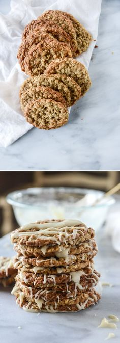 Thin and Chewy Oatmeal Cookies! I howsweeteats.com