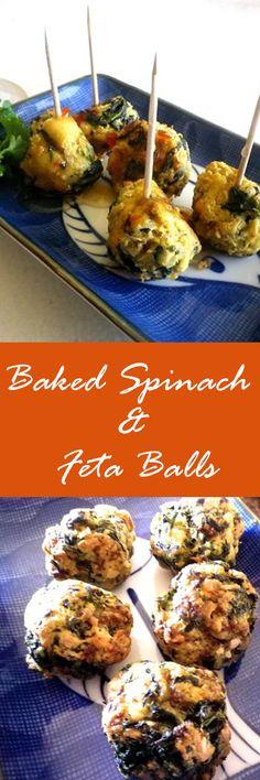 Baked Spinach & Feta Balls recipe.