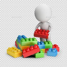 Buy Small People - Toy Blocks by AnatolyM on GraphicRiver. small person builds out of toy blocks. Transparent high resolution PNG with shadows. Graphic Design Templates, Print Templates, Crafts With Glass Jars, Powerpoint Animation, Sculpture Lessons, Emoji Images, Cute Emoji, Game Assets, School Holidays
