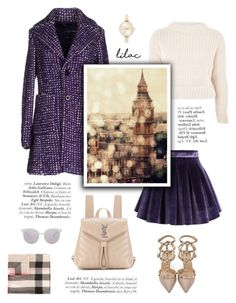 """""""Purple rain"""" by little-vogue ❤ liked on Polyvore featuring Topshop, Chicwish, Up To Be, Lauren Jones, Yves Saint Laurent, Valentino, Burberry, Matthew Williamson, Michael Kors and purple"""