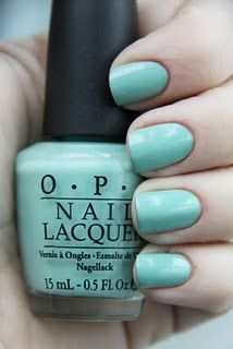 OPI mermaid's tears from the pirates of the caribbean collection. it is a soft pastel sage cream that is completely free of shimmer, sparkle, or fuss.