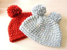 Gorro de ganchillo fácil punto bajo - Easy Crochet Hat Single Crochet                                                                                                                                                                                 More