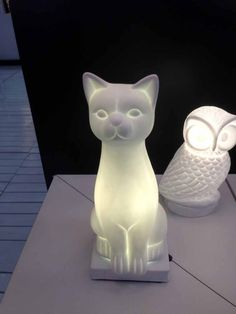 Cat and owl lamps! Crazy Cat Lady, Crazy Cats, Cat Lamp, Cat Merchandise, Cat Enclosure, Cat Decor, All About Cats, Cat People, Cat Furniture