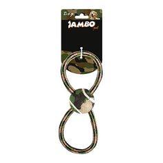 Brinquedo de Corda para Cachorro Militar 8 Bola Tênis Jambo Pet - MeuAmigoPet.com.br #petshop #cachorro #cão #meuamigopet