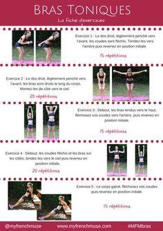 Découvrez et téléchargez gratuitement la fiche d'exercices pour des bras toniques.