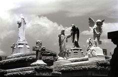 Angels in a New Orleans cemetery