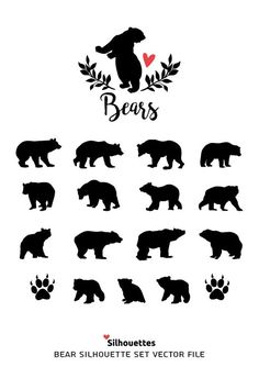My new social Project Silhouette Tattoos, Silhouette Vector, Silhouette Cameo, Black Bear Tattoo, Cubs Tattoo, Surreal Tattoo, Native Tattoos, Jar Art, Woodland Creatures