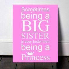 Big Sister Announcement, Sibling Announcement, 2nd Pregnancy Announcement, Baby Number 2, Big Sister Sign, Second Baby, Big Sister Princess by PrintsInspiredByMyah on Etsy