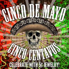 FELIZ CINCO DE MAYO, COCOBUL FANS!  Pick up some beautiful Metallic Acrylic Jewlery for the Tongue, Eyebrow, or Belly! Only 5¢ each!  www.CocobulBodyJewelry.com    Now if only we could give away tequila shots...  #bodyjewelry #piercings #cincodemayo #bellyring #navelring #eyebrowring #barbell #sale #coupon #cocobul #cocobulbodyjewelry #tequila #giveaway #almostfree #vivamexico