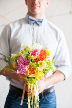 citrus bouquet // photo by Matt & Julie Weddings