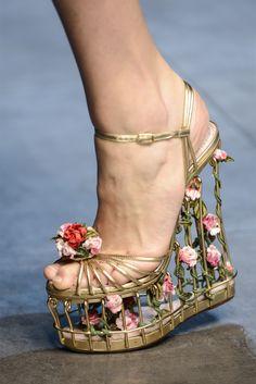 D & G #dolceandgabbana #shoes #wedge #floral #fall2013rtw #milanfashionweek