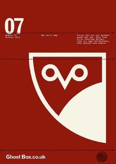 design by Julian House Ghost Box, Minimalist Poster Design, Branding Design, Logo Design, Vladimir Kush, Environmental Design, Graphic Design Illustration, Packaging, Editorial Design