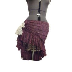 Skirt Tribal Belly Dance Lace Magenta and White Multiple Ways to Wear OOAK Ruffle N Bustle. via Etsy. Belly Dance Skirt, Tribal Belly Dance, Dance Skirts, Fancy Dress, Dress Up, Bustle Skirt, Funky Outfits, Belly Dance Costumes, Belly Dancers
