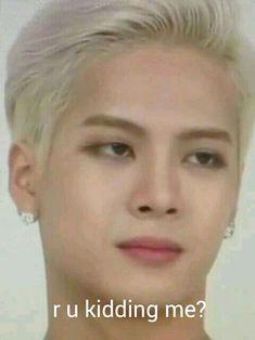 That face Jackson :v Yugyeom, Youngjae, Memes Funny Faces, Funny Kpop Memes, Dankest Memes, Jackson Wang Funny, Got7 Jackson, Got7 Meme, Got7 Funny