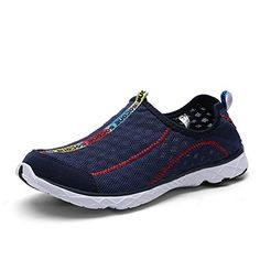 KaLeido Womens Breathable Mesh Slip On Walking Casual Water Shoes 10BM USEU 42 Dark Blue >>> Read more reviews of the product by visiting the link on the image.(This is an Amazon affiliate link and I receive a commission for the sales)