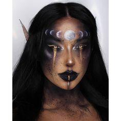 Edgy Makeup, Eye Makeup Art, Crazy Makeup, Cute Makeup, Hair Makeup, Black Face Makeup, Face Paint Makeup, Sfx Makeup, Makeup Eyes