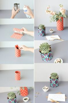 Canning with tin cans: 61 great ideas! - Making Furniture yourself DIY Tin Can Crafts, Crafts To Sell, Diy And Crafts Sewing, Diy Crafts, Tin Can Decorations, Diy Drums, Diy Y Manualidades, Diy Art Projects, Craft Wedding