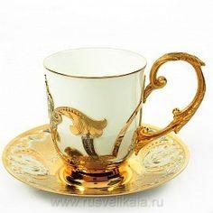 Купить Златоуст посуда - Набор чайный новый Златоуст (арт. 0012537) в магазине подарков Русь Великая, фотография 1 Teapots And Cups, Teacups, Cuppa Tea, Chocolate Cups, Tea Art, China Tea Cups, Vintage Glassware, Tea Cup Saucer, Vintage Tea