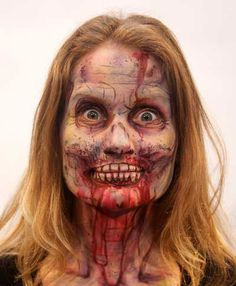 very scary Halloween make up