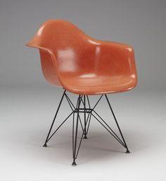 """DAR"" (Dining Armchair Rod) armchair, 1951 (designed c. 1948) Charles Eames; Designer: Ray Eames; Manufacturer: Zenith Plastics, Gardena, California; Distributor: Herman Miller, Inc., Zeeland, Michigan"