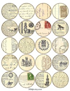 vintage printable tags large round images Printable by 300dpi