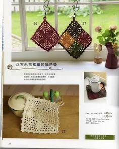 Receitas de Crochet: Pegador