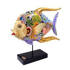"Best 11 Thomas Hoffmann / Tom's Drag: Thomas Hoffmann / Tom's Drag ""Acrobat II"" – SkillOfKing. Fish Wall Art, Fish Art, Toms, Cow Parade, Fish Sculpture, Fish Drawings, Acrylic Painting Techniques, Tole Painting, Rock Art"