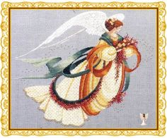 Shop craft materials, yarn and free patterns. Knitting, crochet, embroidery, sewing and tons of inspiration for your next project. Stitch And Angel, Cross Stitch Angels, Christmas Angels, Cross Stitching, Fun Projects, Cross Stitch Patterns, Needlework, Craft Supplies, 1