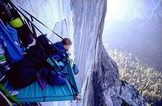 sleeping on the side of a cliff | Rock Climbing Hanging Tent