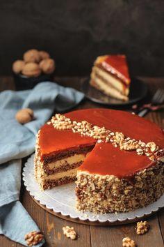 Dobos Torte Recipe, Torte Cake, Torte Recepti, Kolaci I Torte, Baking Recipes, Cake Recipes, Dessert Recipes, Desserts, Caramel Recipes