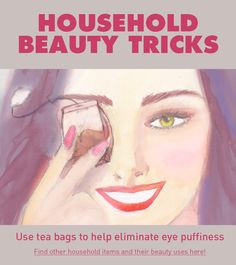 Secret Beauty Remedies 9 Household Items That Work as Beauty Products! - Makeup artist James Vincent shares his favorite beauty tricks using items you may already have laying around the house. Beauty Secrets, Diy Beauty, Beauty Skin, Health And Beauty, Beauty Makeup, Beauty Hacks, Beauty Products, Beauty Tips, Face Products