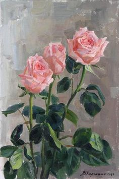 Painting Lessons, Art Lessons, Rose Oil Painting, Universe Art, Abstract Drawings, Arte Floral, Beautiful Paintings, Vintage Flowers, Painting Inspiration
