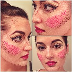 """Was playing around with makeup last night, as you do. #pointillism #pointillismmakeup"""