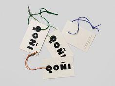 Swing Tag Design – Qoñi by Leo Burnett, Canada — BP&O - Branding, Packaging and Opinion Identity Design, Brand Identity, Logo Design, Hangtag Design, Brand Design, 2 Logo, Logo Branding, Retail Branding, Swing Tag Design