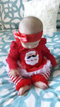 Sale Personalized Baby Christmas Outfit Babies by LittleLulusGifts