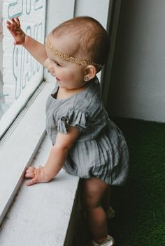 muslin bubble romper for boho baby <3 // available in dress form for matching sister outfits