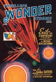Thrilling Wonder Stories: Rocket Ship Troubles 20x30 poster contemporary-prints-and-posters